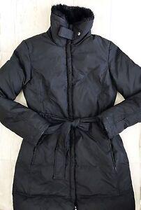 Down Belted Sort Sz Xs Polyester Kvinders Coat Down Filled Dkny Fuld Zip w64vqCT