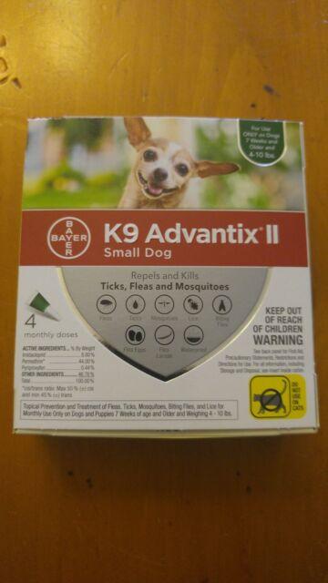 K9 Advantix II Flea Medicine Small Dog 4 Month Supply Pack K-9 4-10 lbs