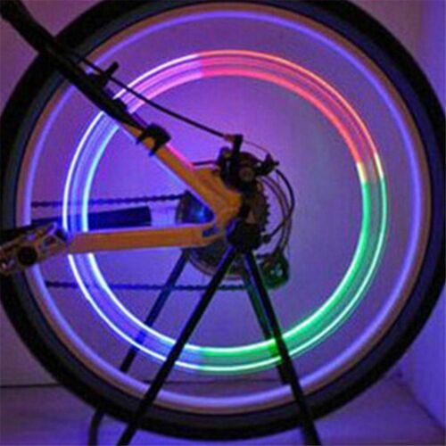 Hot Bicycle LED Lamp Flash Tyre Wheel Valve Cap Light Car Motorcycle 2PCS