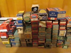 NOS-NIB-new-mostly-4-6-pin-1930s-vacuum-tubes-type-26-42-80-etc