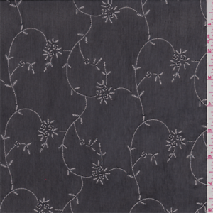 Black-White-Floral-Mesh-Fabric-By-The-Yard