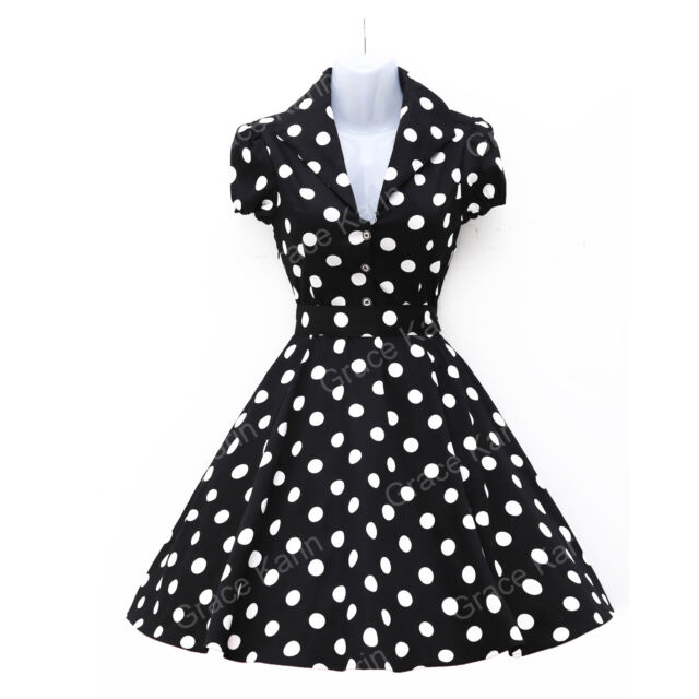 Damen VTG Stile Rockabilly 50er 60er Jahre Ballkleid Petticoat Party Abendkleid