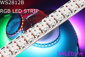 1-5m-144-RGB-AI-LED-Strip-mit-WS2812B-5050-SMD-LEDs-WS2812-144LEDs-m