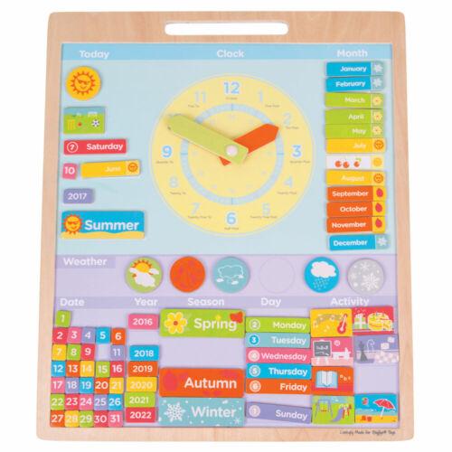 BIGJIGS Toys educativo De Madera Placa de clima Magnética Aprender temporadas de tiempo