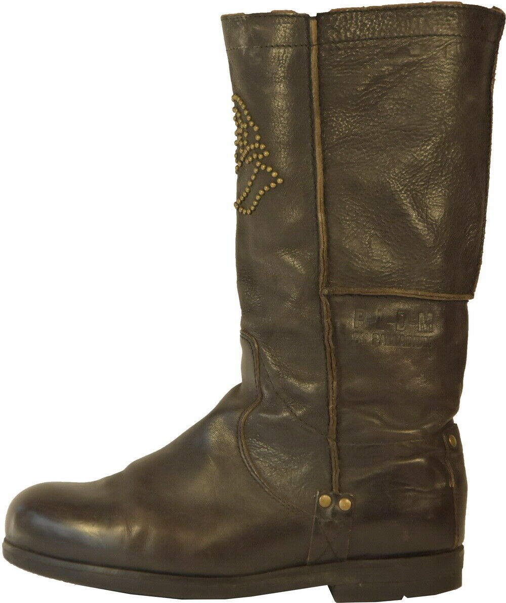 W070 PALLADIUM botas MOTARD marrón CLOUTEES T.39 UK 6 VALEUR