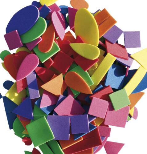 MOOSGUMMI Formen 200 Teile Basteln Dreicke Quadrate Rechtecke Tropfen Mix Set
