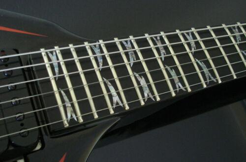 Rich V KK Slayer Tribal ABALONE Fret Marker Decals for BASS /& GUITAR Custom B.C