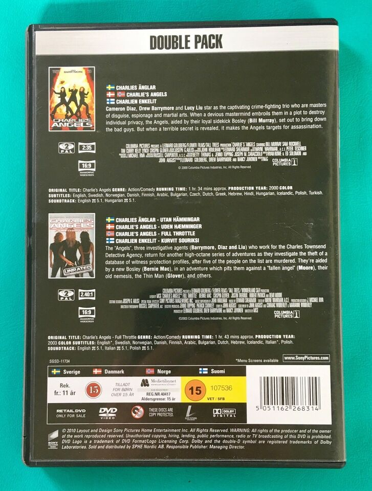 Charlie's Angels 1+2 (2DVD), DVD, action