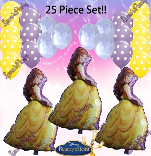 CHOOSE HEART BEAUTY AND THE BEAST LATEX  BELLE BIRTHDAY PRINCESS ❤ BALLOONS