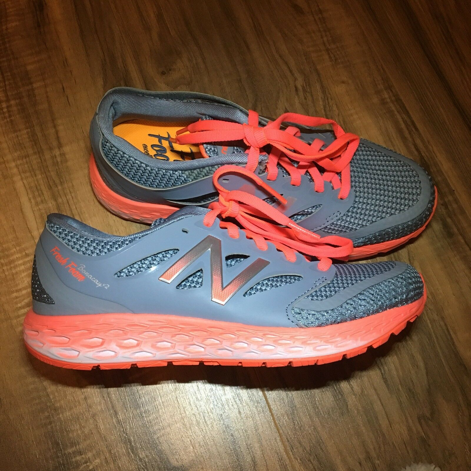 New Balance Boracay V2 Womens Running shoes Grey orange Size 5 Fresh Foam