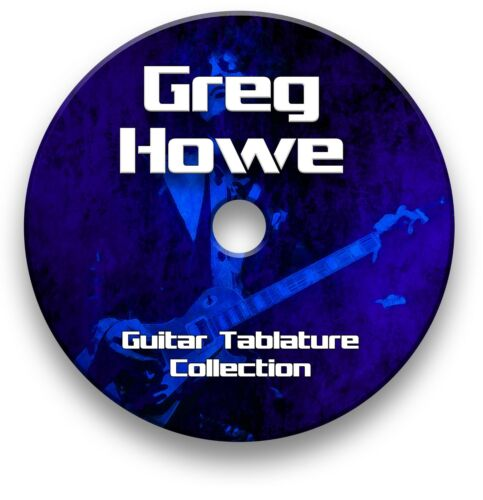 GREG HOWE ROCK JAZZ GUITAR TAB TABLATURE SONG BOOK SOFTWARE CD