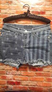 Rock-amp-Republic-Womens-American-Flag-Print-Denim-Jean-Lolita-Shorts-Size-6