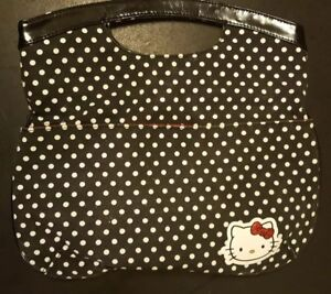 b27493c59 SANRIO Hello Kitty black white polka DOT purse clutch sequins hand ...