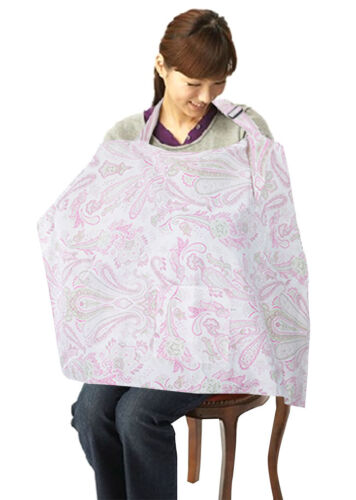 Baby Mum Breastfeeding Nursing Poncho Covers Cotton Blanket Shawl