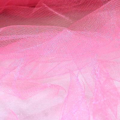1 METRE SOFT VEILING FABRIC TUTU BRIDAL NET DRESS COSTUME SHIMMER 160CM WIDE