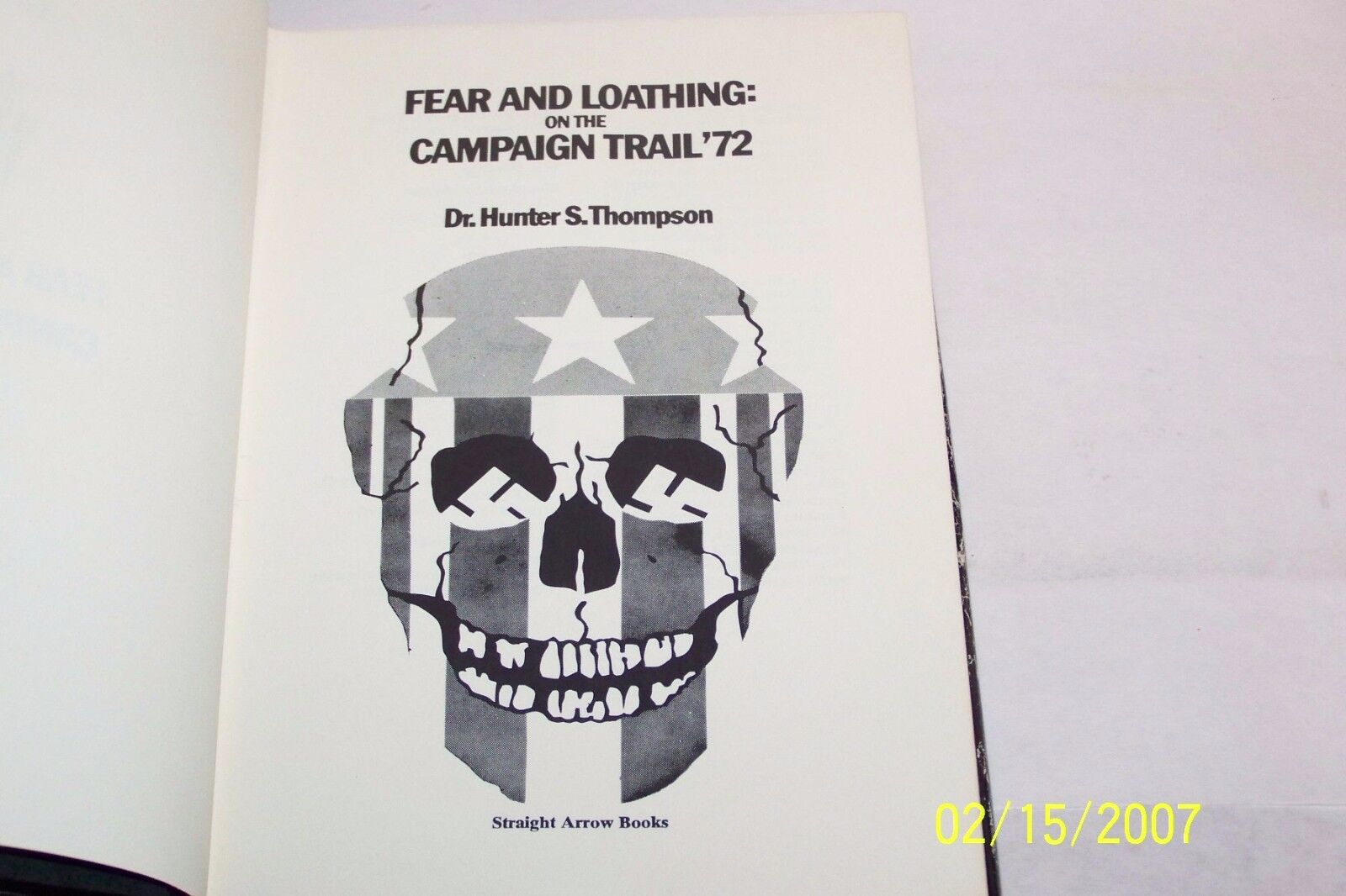 Fear And Loathing On The Campaign Trail 72 By Hunter S Thompson
