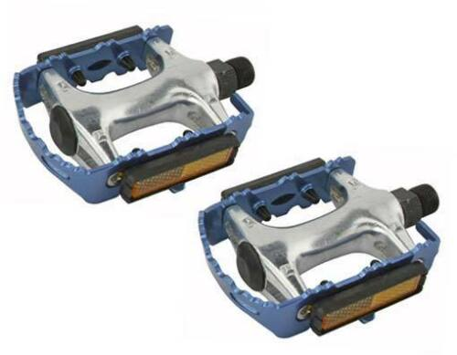 """ROAD MTB 940 Alloy Pedals 9//16/"""" Blue cruiser 9//16 pedal.fixie bicycle pedal"""