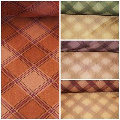 Netzstoff Jersey Stoff KARO 4 Farben: ORANGE GRÜN DUNKELBRAUN BRAUN #0503