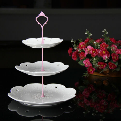 3Tier Retro Crown Wedding Cake Plate Tiered Stand Handle Fitting DIY Useful Tool
