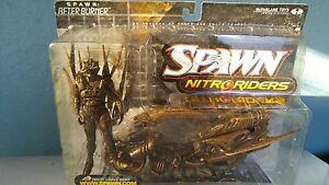 SPAWN-NITRO-RIDERS-AFTERBURN-GOLD-WASHED-PAINT-NEVER-OPENED