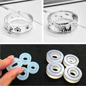 18pcs Clear Silicone Ring Mold For Jewelry Making Resin Supplies DIY Bangles zxc