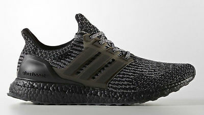 c39f2afe7 Adidas Ultra Boost Triple Black 3.0 size 6.5. BA8923. Silver Grey Gray. nmd