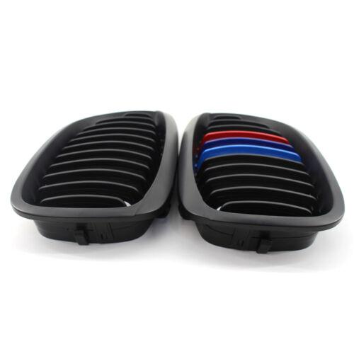 Matte Black M-Color Kidney Grille Fit For BMW E46 LCI Facelift Coupe 2003-06