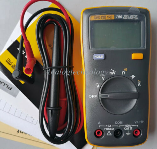 Fluke 106 Palm-sized Digital Multimeter Professional in the palm of your hand