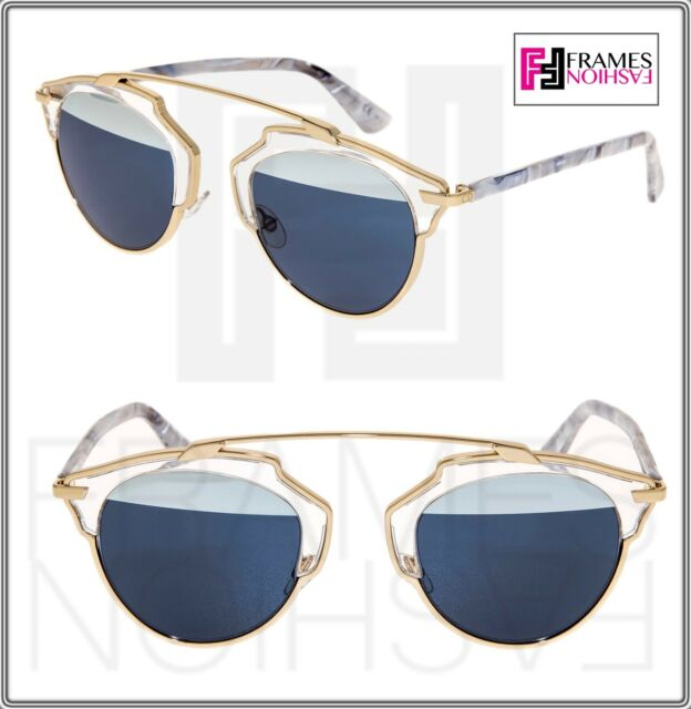 de88893d27bc CHRISTIAN DIOR SO REAL White Marble Crystal Silver Mirrored Sunglasses  SOREAL