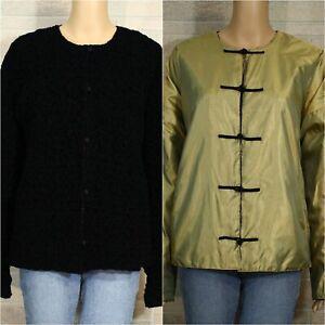 Mycra-Pac-One-MEDIUM-LARGE-Reversible-Jacket-Black-Textured-Chartreuse-Green