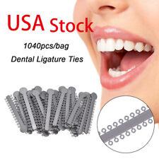 1040tiesbag Orthodontic Ligature Ties Dental Elastic Rubber Bands Grey Color Us