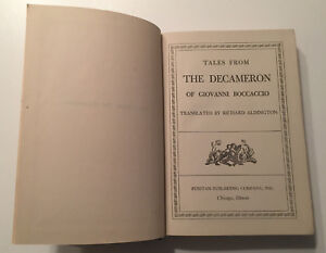 Tales-From-The-Decameron-of-Giovanni-Boccaccio-Vintage-1930-Printing