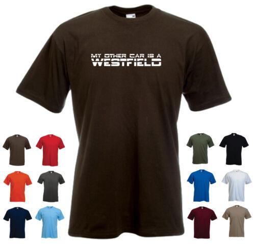 """/""""mon autre voiture est un westfield/"""" men/'s voiture drôle cadeau anniversaire t-shirt"""