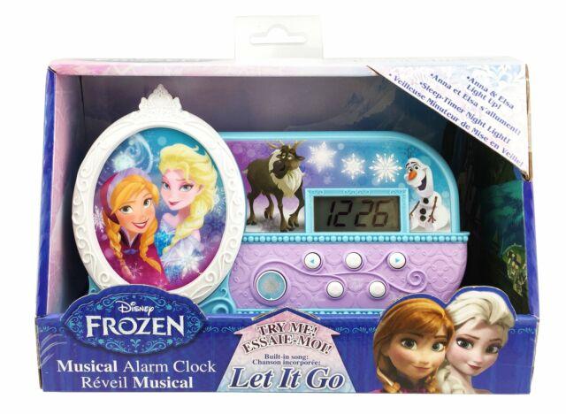 KIDdesigns Frozen Night Glow Alarm Clock