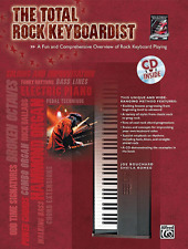 """""""THE TOTAL ROCK KEYBOARDIST"""" MUSIC BOOK/CD-INSTRUCTIONAL-BRAND NEW ON SALE!!"""