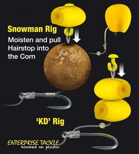 Enterprise Artificial Super Soft Sweetcorn with Hair Stops Carp Coarse Fishing
