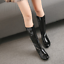 Womens-Patent-Leather-Knee-High-Boots-Med-Heel-Shoes-Knight-Size-35-39-N035-New thumbnail 3