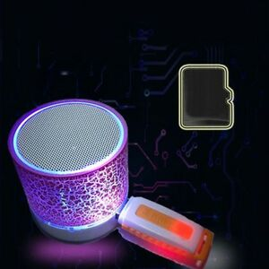 LED Portátil Altavoz de Bluetooth inalámbrico exterior USB Música Sonido