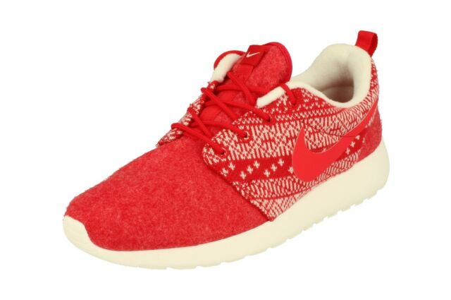 9f6733ba3aa1 Nike WMNS Roshe One Winter Christmas Sweater Red White 685286-661 US ...