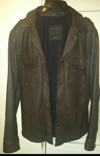 All saints leather jacket men medium - image 1