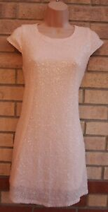 MISSGUIDED-PALE-PINK-MINI-SEQUIN-BEADED-SHORT-SLEEVE-SHIFT-TUNIC-PARTY-DRESS-8-S