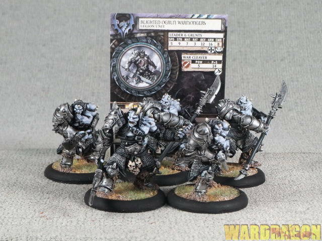 40mm Hordes WDS painted Legion of Everblight Blighted Ogrun Warmongers r57