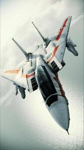 Plaque métal décoration avion de chasse   30 X 20 CM
