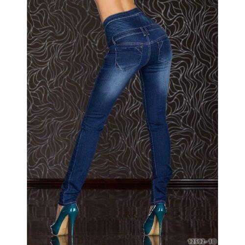 227 skinny vita alta Blue Rags DENIM STRETCH JEANS DISTRUTTI innmark UK 6-14