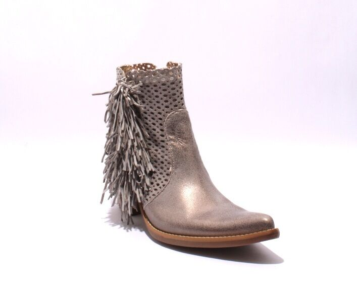 Donna Piu 52826 Antique Gray  Ankle Leder Suede Cowboy Heel Ankle  Booties 40 / US 10 563661