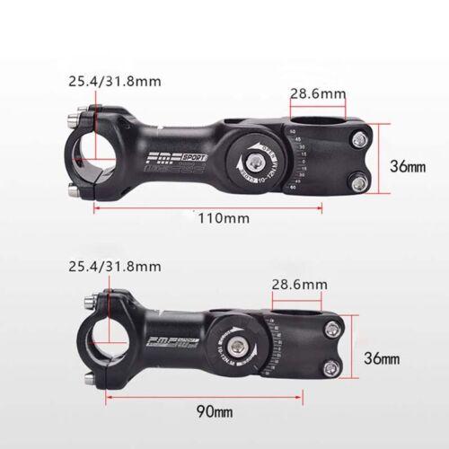 31.8mm Schwarz Einstellbare MTB Fahrrad Aluminium Lenkervorbau Riser 25.4
