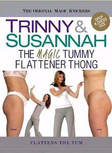 TRINNY-amp-SUSANNAH-THE-MAGIC-TUMMY-FLATTENER-THONG-NUDE-or-BLACK-XL-FIT-16-20