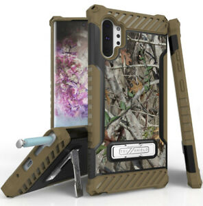 Autumn-Camo-Tree-Leaf-Real-Woods-Case-Rugged-Cover-Stand-for-Galaxy-Note-10-Plus