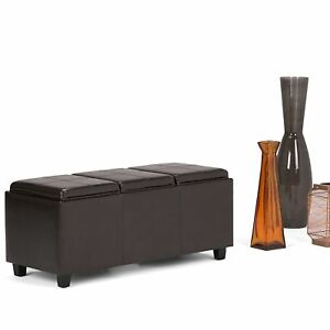 Marvelous Details About Rectangle Ottoman Bench Tray Organizer Entry Way Large Seat Living Room Storage Evergreenethics Interior Chair Design Evergreenethicsorg