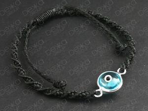 925-Sterling-Silver-Evil-Eye-Cord-Friendship-Bracelet-Greek-Mati-Nazar-Women-Men